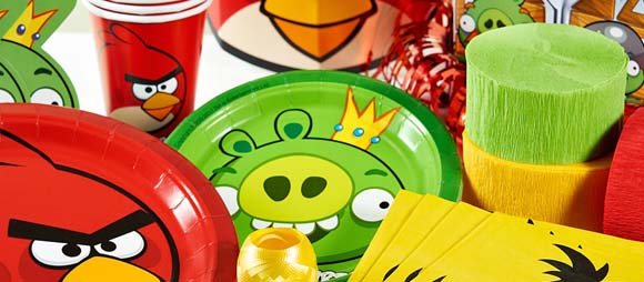 Pin angry birds licensed red bird ornament great for for Angry birds party decoration ideas