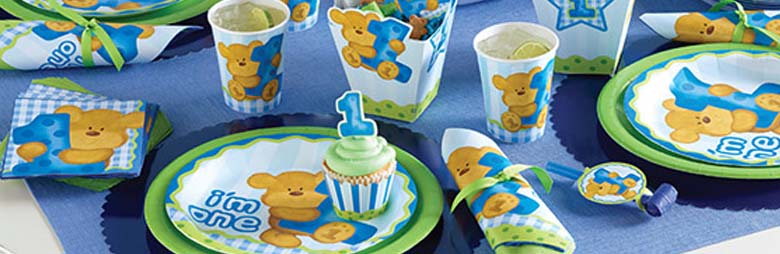 Bears 1st Birthday Boy Party Supplies