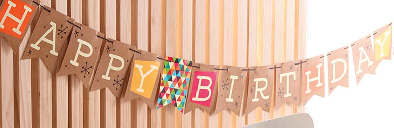 Birthday Kraft Party Supplies