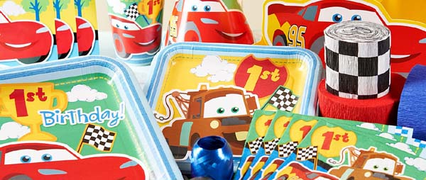 Disney Cars 1st Birthday Party Supplies For First Birthday Themes at