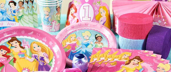 Disney Princess 1st Birthday Party Supplies