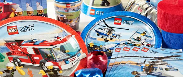 LEGO City Party Supplies For Kids Birthday Party Themes at MTRADE