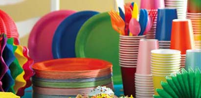MTRADE - Singapore Party Supplies - Solid Color Tableware