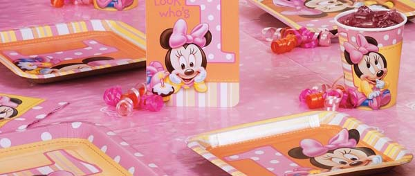Minnie's 1st Birthday Party Supplies