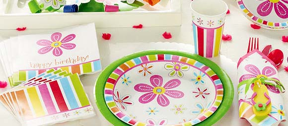 Pink Flower Cheer Party Supplies