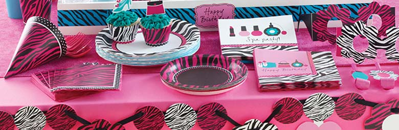 Pink Zebra Boutique Party Supplies
