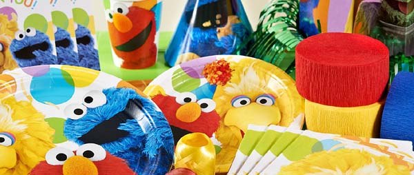 Sesame Street Party Supplies For Kids Birthday Party Themes