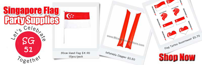 NDP 51 Singapore Flag Party Supplies Wholesale
