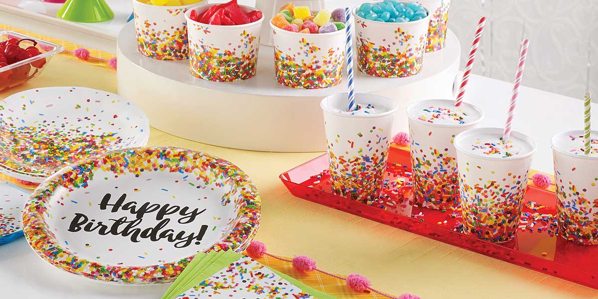 Sprinkles Birthday Party Supplies