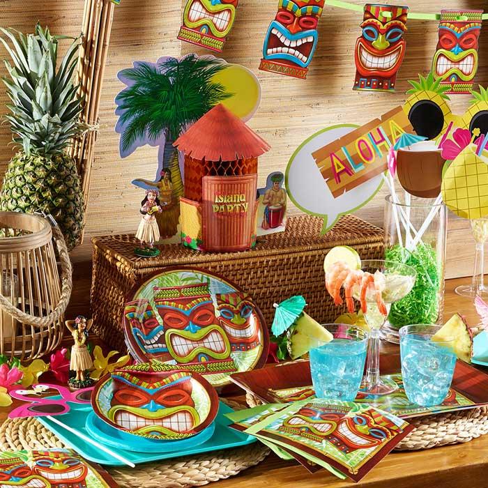 Tiki Time Party Supplies